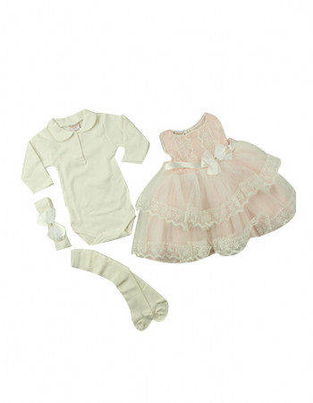 2c748334047c Gift Set 4 Pieces for Baby Plain Texture White - LDN-M05007-12-18 ...